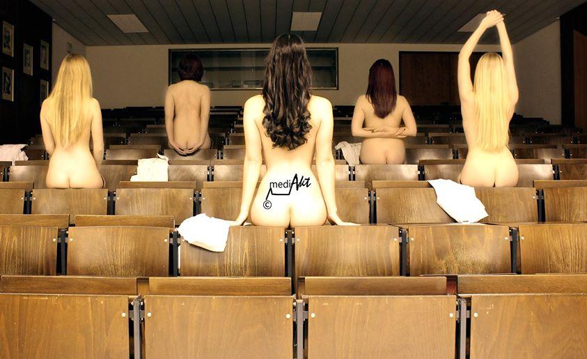 Mach Dich nackt für die Uni – Giessener Medizinstudenten ziehen sich für mehr finanzielle Mittel für ihren Fachbereich aus!