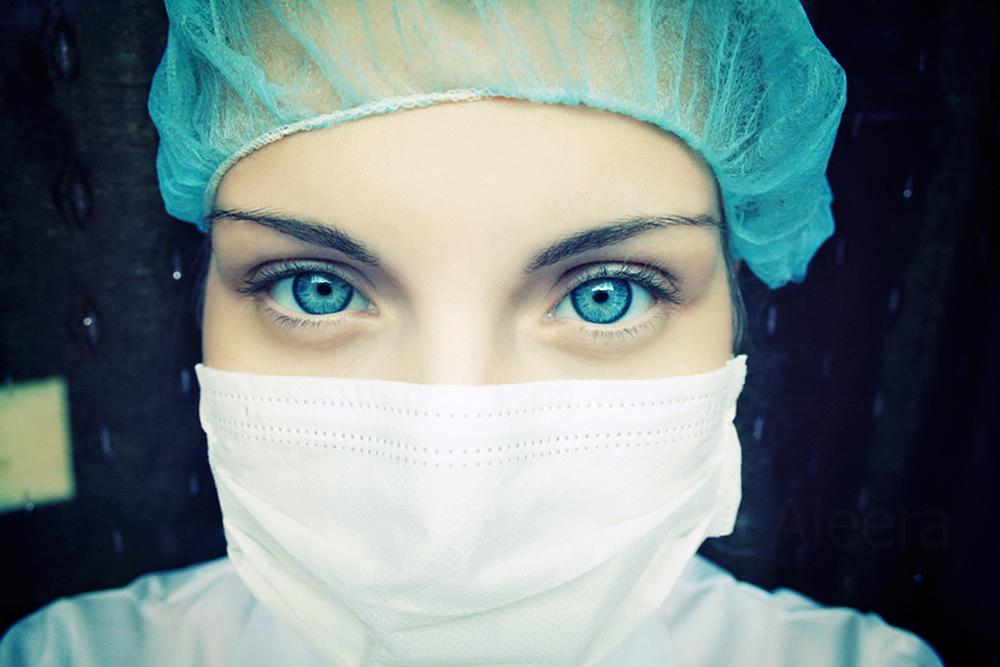 Chirurgin und werdende Mutter