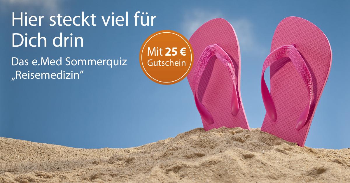 Bei e.Med von Springer Medizin gibt es Sommergutscheine von Ikea, Globetrotter und Jack Wolfskin!