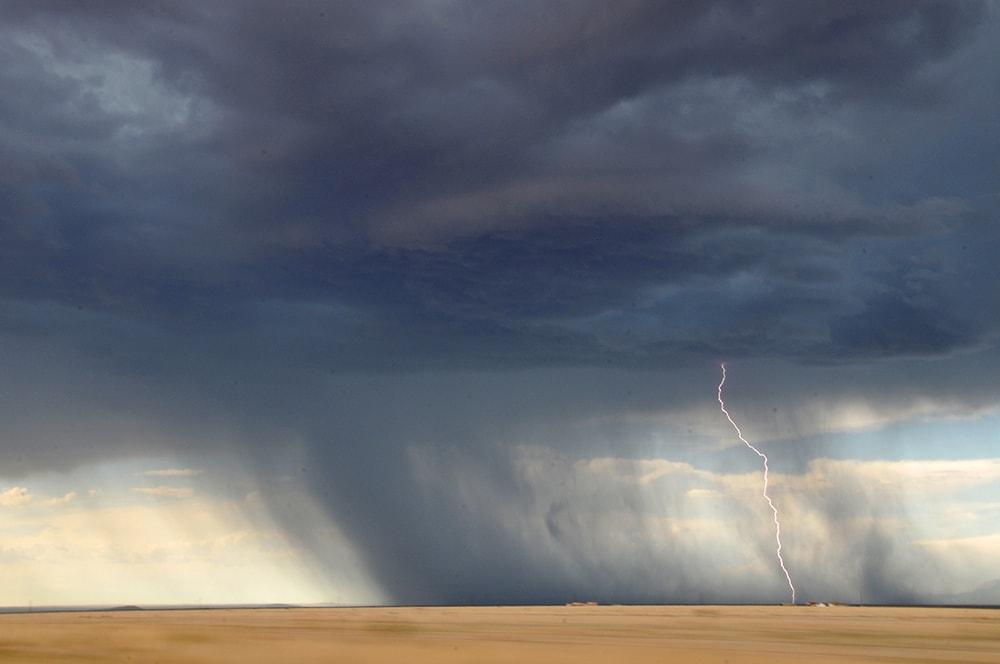 Folgen des Blitzschlag