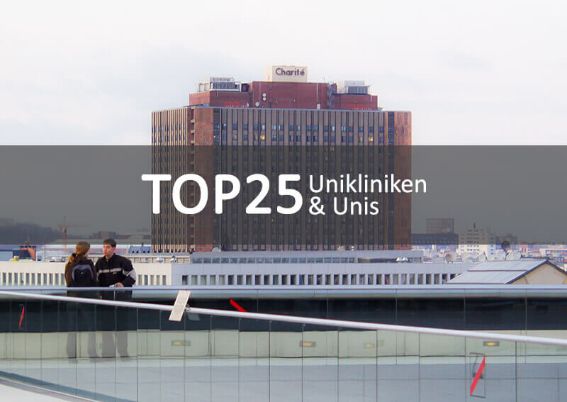 Top 25 Unikliniken in Deutschland