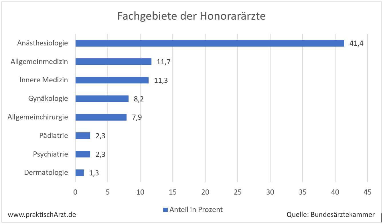 Grafik: Fachgebiete Der Honorarärzte