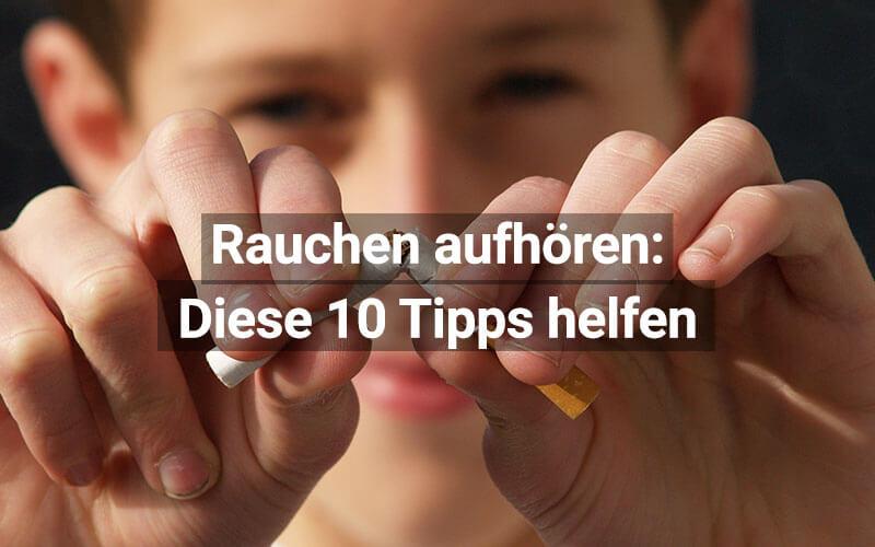 Rauchen aufhören-Tipps