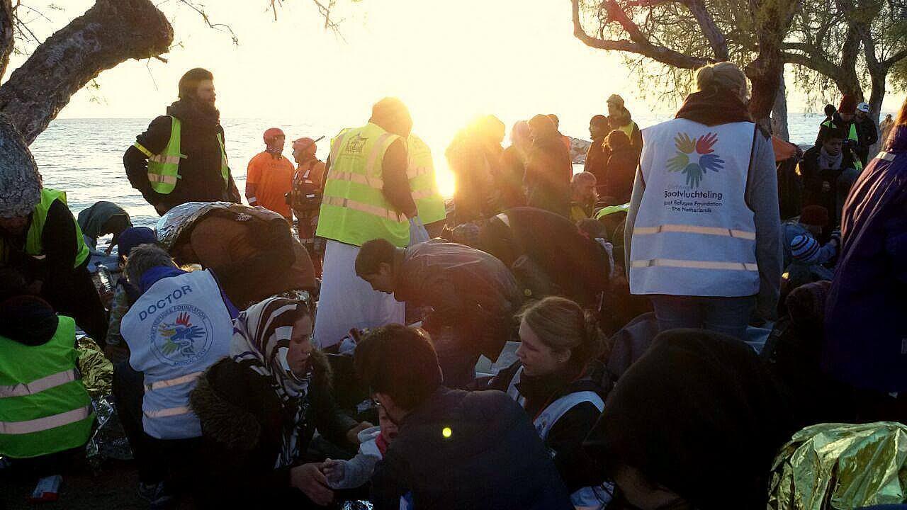 Volontäre Bei Der Arbeit, Küstenwache, Lesbos
