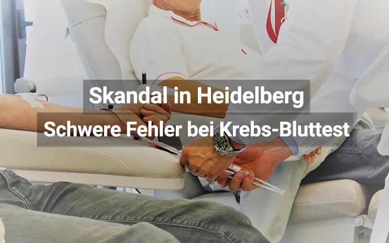 Heidelberger Bluttest: Skandal wegen mangelnder Validität
