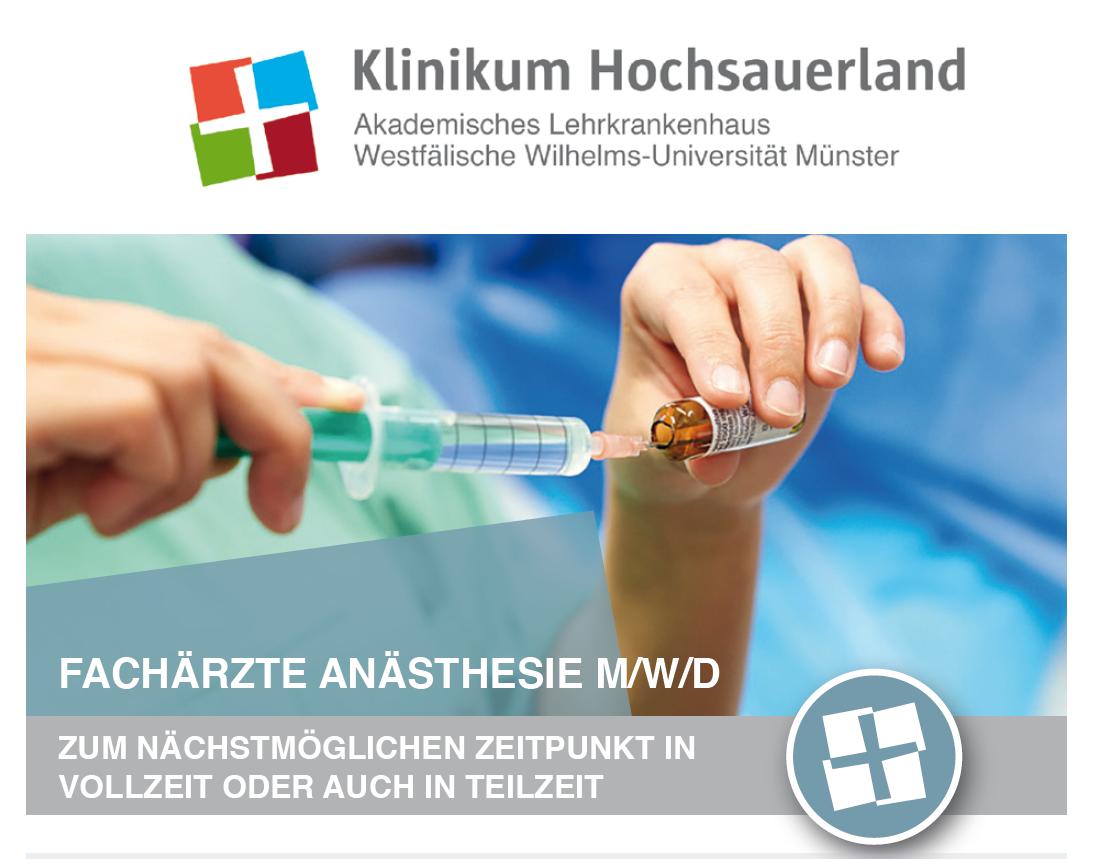 FA Anästhesie Hochsauerland