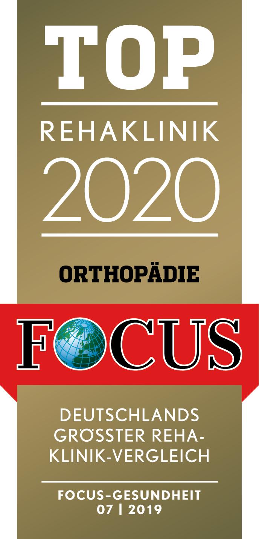 FOCUS Logo TOP Rehaklinik 2020 Orthopädie