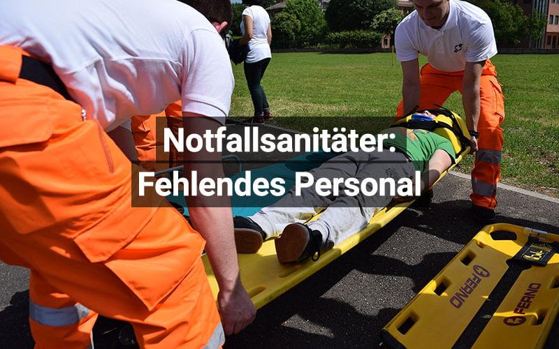 Notfallsanitäter Personal