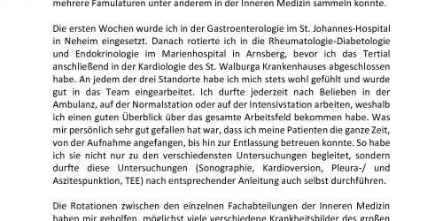 Klinikum Hochsauerland PJ Erfahrungsbericht