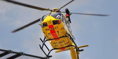 Rettungshubschrauber ADAC Im Anflug