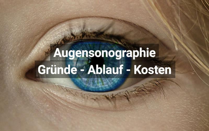 Augensonographie