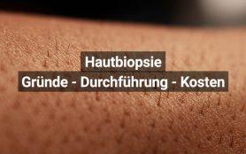 Hautbiopsie Gewebeentnahme
