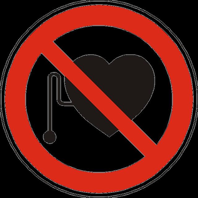 Verbot Herzschrittmacher