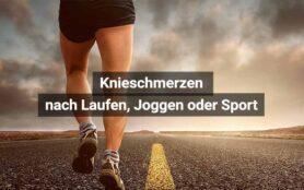 Knieschmerzen Nach Laufen, Joggen, Sport