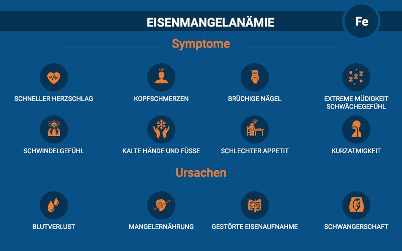 Eisenmangelanämie Symptome Ursachen