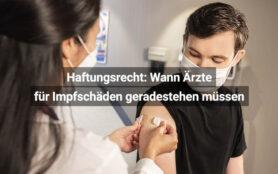 Haftungsrecht Wann Ärzte Für Impfschäden Geradestehen Müssen