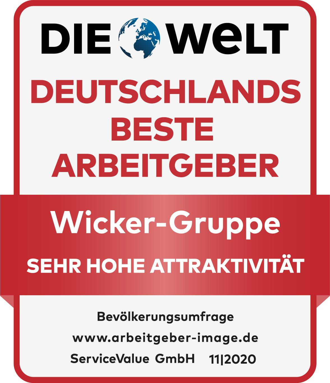 Siegel Deutschlands Beste Arbeitgeber Sehr Hohe Attraktivität Wicker Gruppe