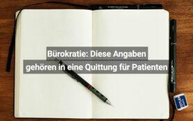 Patienten Quittung